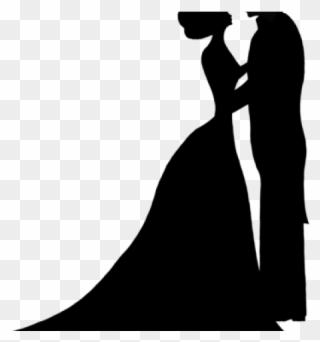 Bride groom silhouette free clipart clipart royalty free stock Free PNG Groom Silhouette Clip Art Download - PinClipart clipart royalty free stock