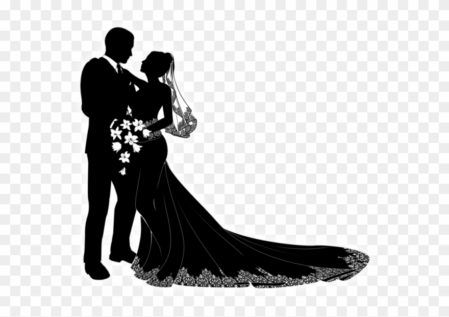 Clipart bride and groom silhouette png free library Silhouettewedding - - 0 - Marriage Vector - Bride And Groom ... png free library