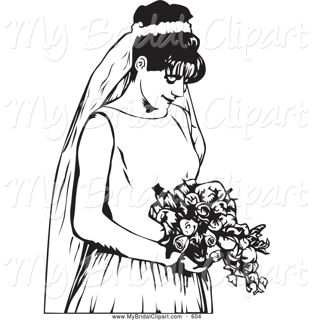 Royalty free black and white clipart clip art black and white download Bride Clipart | Free download best Bride Clipart on ClipArtMag.com clip art black and white download