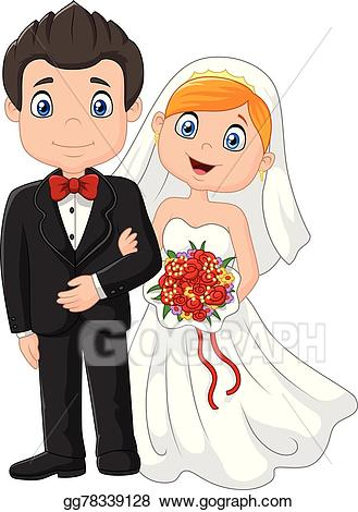 Wedding ceremony clipart svg library Clip Art Vector - Happy cartoon wedding ceremony brid. Stock EPS ... svg library