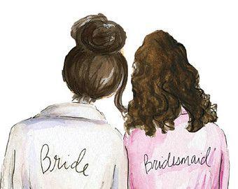 Bridesmaid clipart free