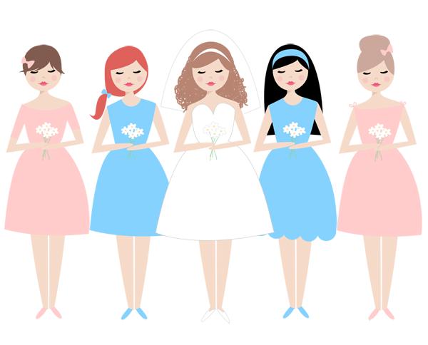 Bridesmaid clipart free vector royalty free library Free Bridesmaid Cliparts, Download Free Clip Art, Free Clip Art on ... vector royalty free library