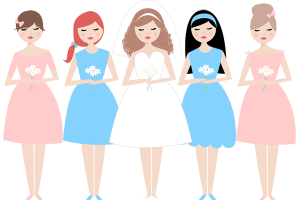 Bridesmaids clipart picture library library Bridesmaids clipart » Clipart Portal picture library library