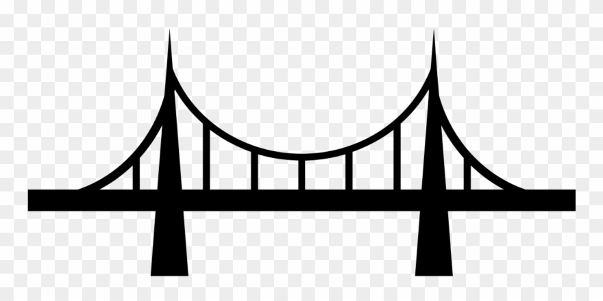 Bridge clipart banner black and white Bridge Clipart Transparent Background - Png Download (#298568 ... banner black and white