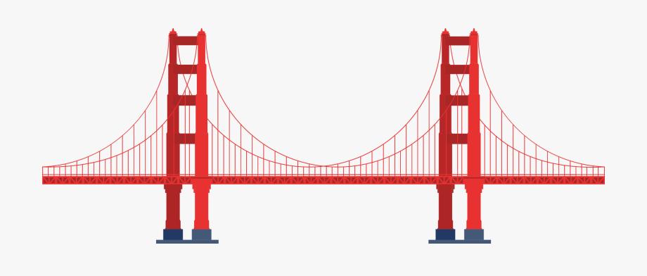 Bridge clipart transparent banner black and white stock Rope Bridge Clipart Transparent - Transparent Golden Gate Bridge Png ... banner black and white stock