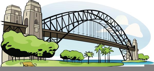 Bridge images clipart svg black and white Harbour Bridge Clipart | Free Images at Clker.com - vector clip art ... svg black and white