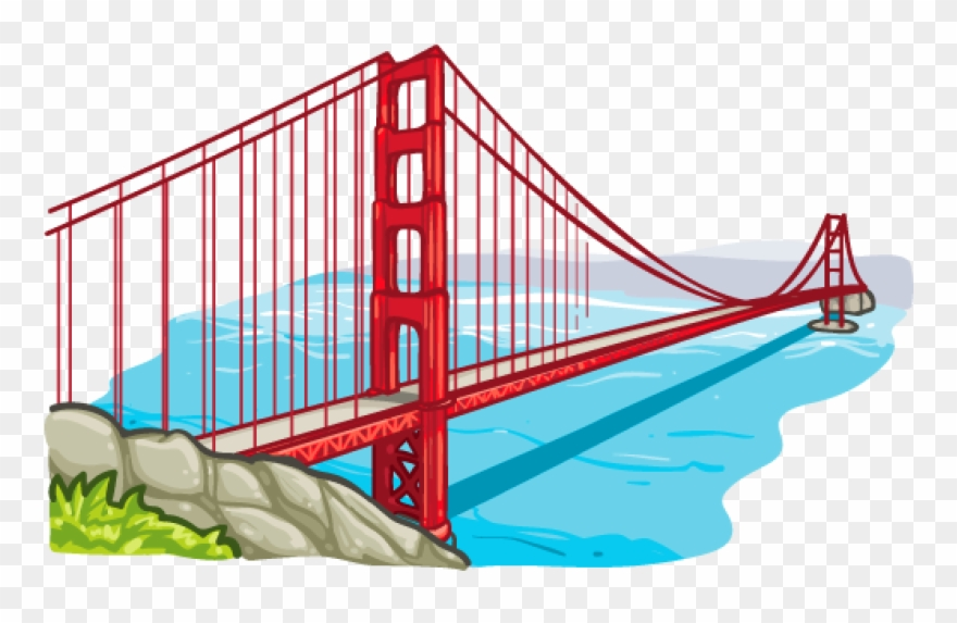 Bridges clipart clipart royalty free library Golden Gate Clipart Place - Golden Gate Bridge Png Transparent Png ... clipart royalty free library