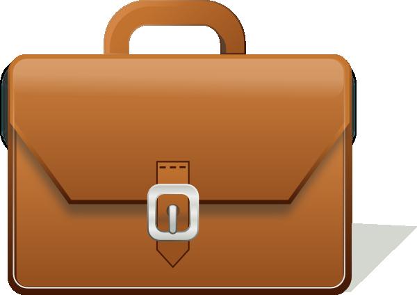 Briefcase for men clipart
