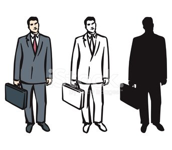 Briefcase for men clipart svg black and white download Man With Briefcase premium clipart - ClipartLogo.com svg black and white download