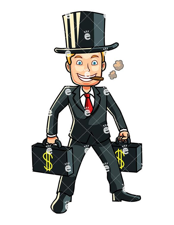 Briefcase for men clipart image black and white library A Rich Man Carrying Briefcases Full Of Money | Cigars | Briefcase ... image black and white library