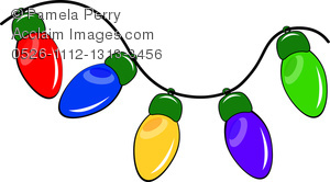 Bright christmas lights clipart free download Clip Art Illustration of a String of Christmas Lights And Bright Colors free download