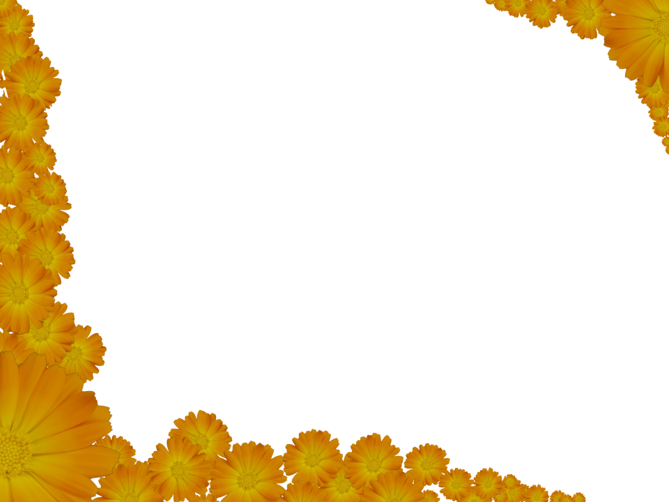 Bright flower border clipart freeuse Two Flowery Yellow Corners - Border with transparent background   3D ... freeuse