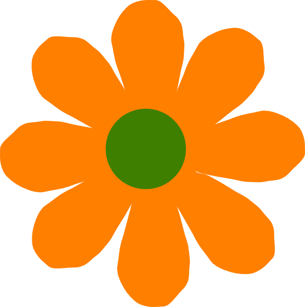 Daisy flower clipart png vector library Orange Flower Clip Art at Clker.com - vector clip art online ... vector library