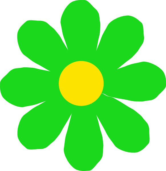 Flower clipart green picture black and white download Bright Green Flower Clip Art at Clker.com - vector clip art online ... picture black and white download