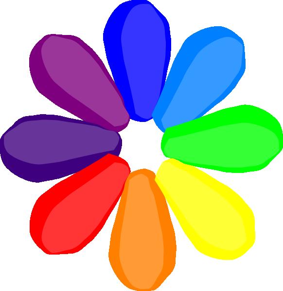 Bright flower clipart clipart free stock Bright Rainbow Flower Clip Art at Clker.com - vector clip art online ... clipart free stock