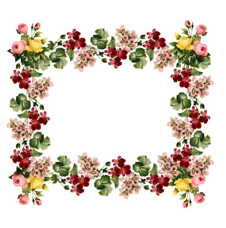 Bright flowers frame border clipart jpg black and white stock 41+ Floral Border Clipart | ClipartLook jpg black and white stock