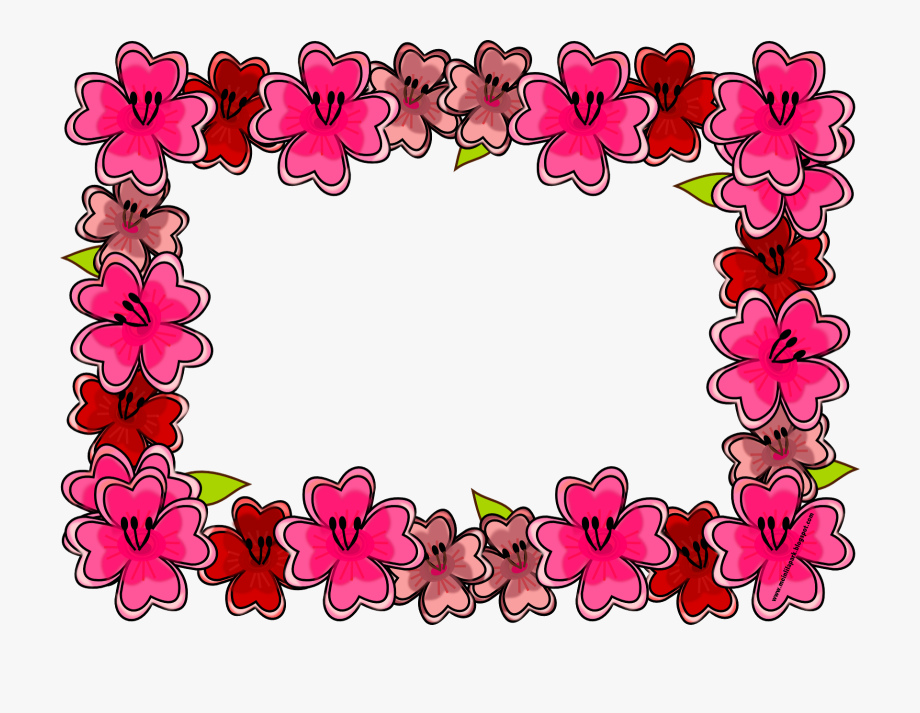 Bright flowers frame border clipart royalty free stock Free Digital Bright Flower Frame Png And Journaling - Floral Writing ... royalty free stock