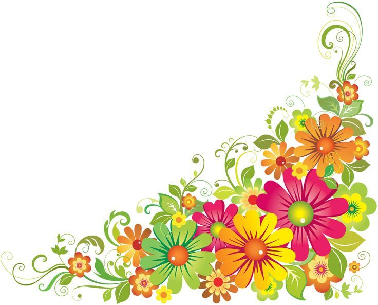 Bright flowers frame border clipart png black and white download Horizontal Flower Border Clipart | DIBUJOS | Flower border clipart ... png black and white download