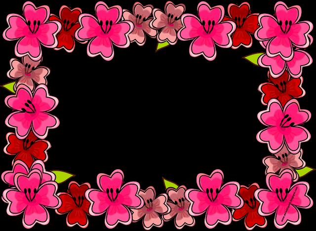 Bright flowers frame border clipart clip art royalty free stock Free digital bright flower frame png and journaling cards ... clip art royalty free stock
