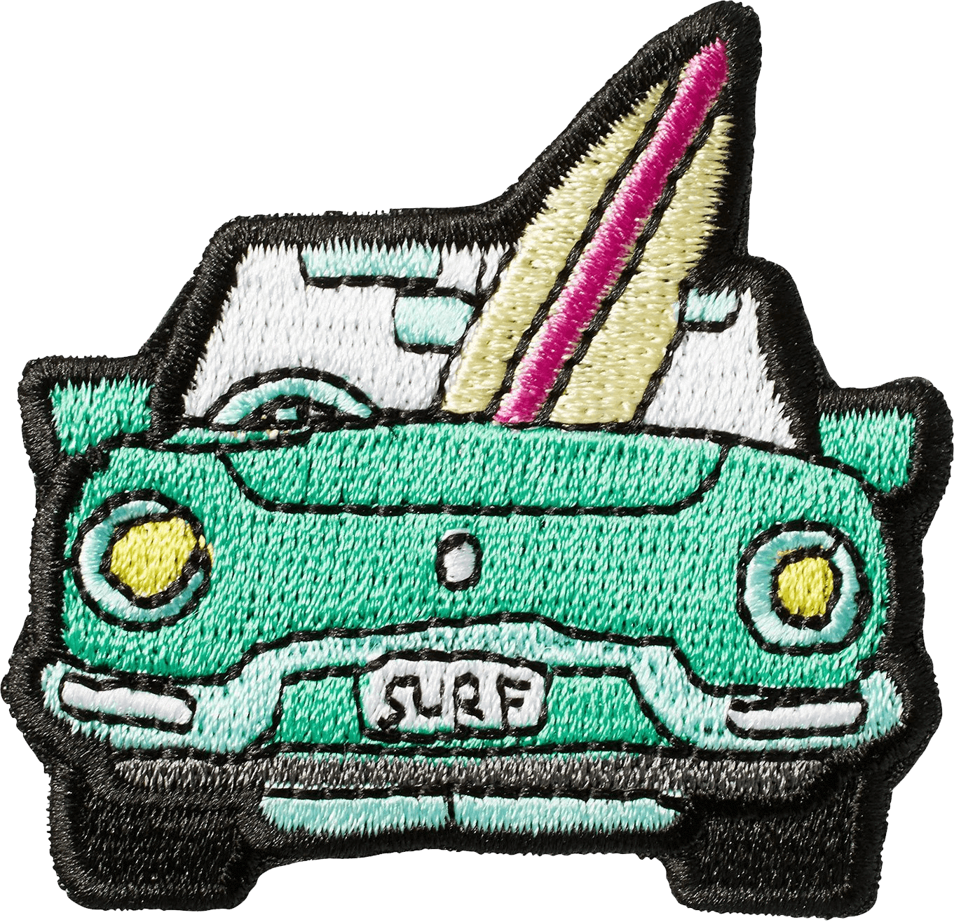 Bright green baseball stitch clipart png free Beach Car Sticker Patch - Stoney Clover Lane png free