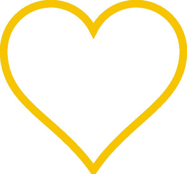 Bright heart clipart clip download Bright Gold Heart Clip Art at Clker.com - vector clip art online ... clip download