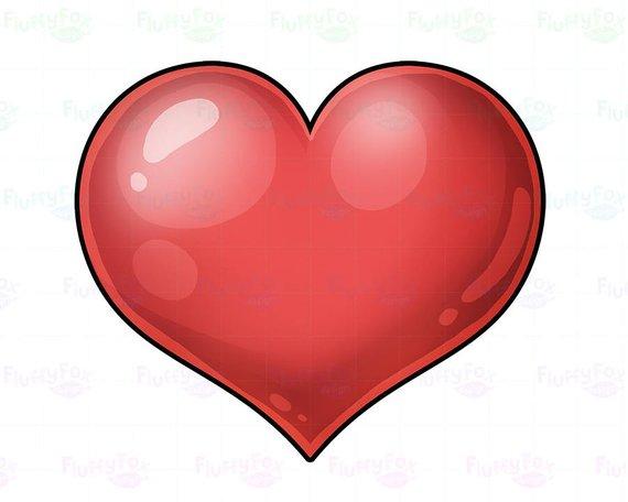 Bright heart clipart clip free stock Shiny Heart Clipart, Kawaii Hearts Clip Arts, Cute Bright Love Clip ... clip free stock