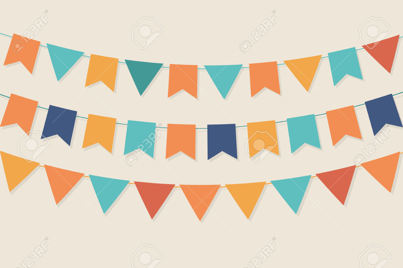 Bright pastel flag bunting clipart clipart Party Flags In Pastel Palette Royalty Free Cliparts, Vectors, And ... clipart