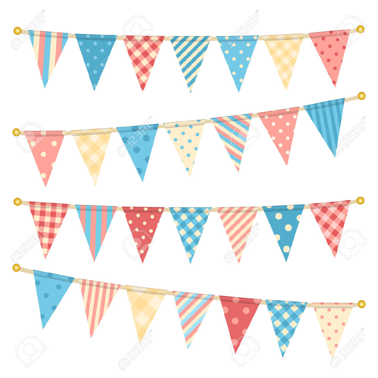 Bright pastel flag bunting clipart svg royalty free stock Vector Triangle Bunting Flags. Royalty Free Cliparts, Vectors, And ... svg royalty free stock