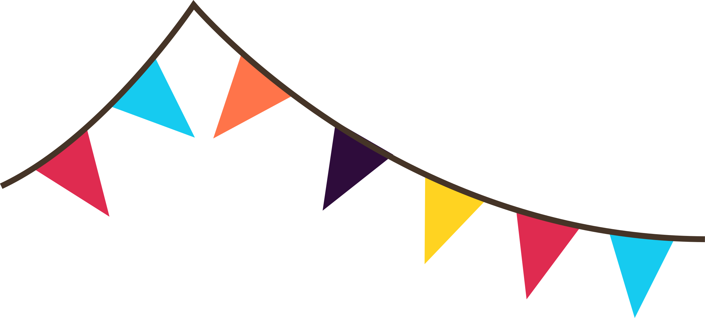 Baseball pennant clipart png picture library stock Bright pastel flag clipart - ClipartFest picture library stock