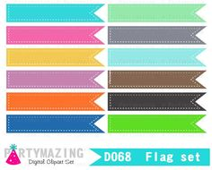 Bright pastel flag clipart picture transparent stock Weather Clipart Set, Clipart Planner, Sunny Weather Report Clipart ... picture transparent stock