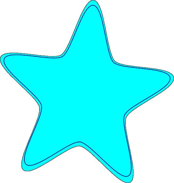 Star bright clipart banner library Bright Neon Blue Star Clip Art at Clker.com - vector clip art online ... banner library