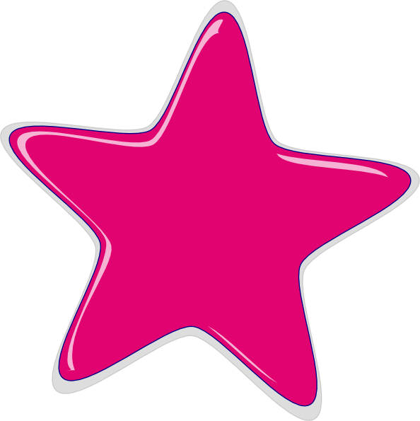 Neon pink star swoosh free clipart png black and white library Bright Pink Star Clip Art at Clker.com - vector clip art online ... png black and white library