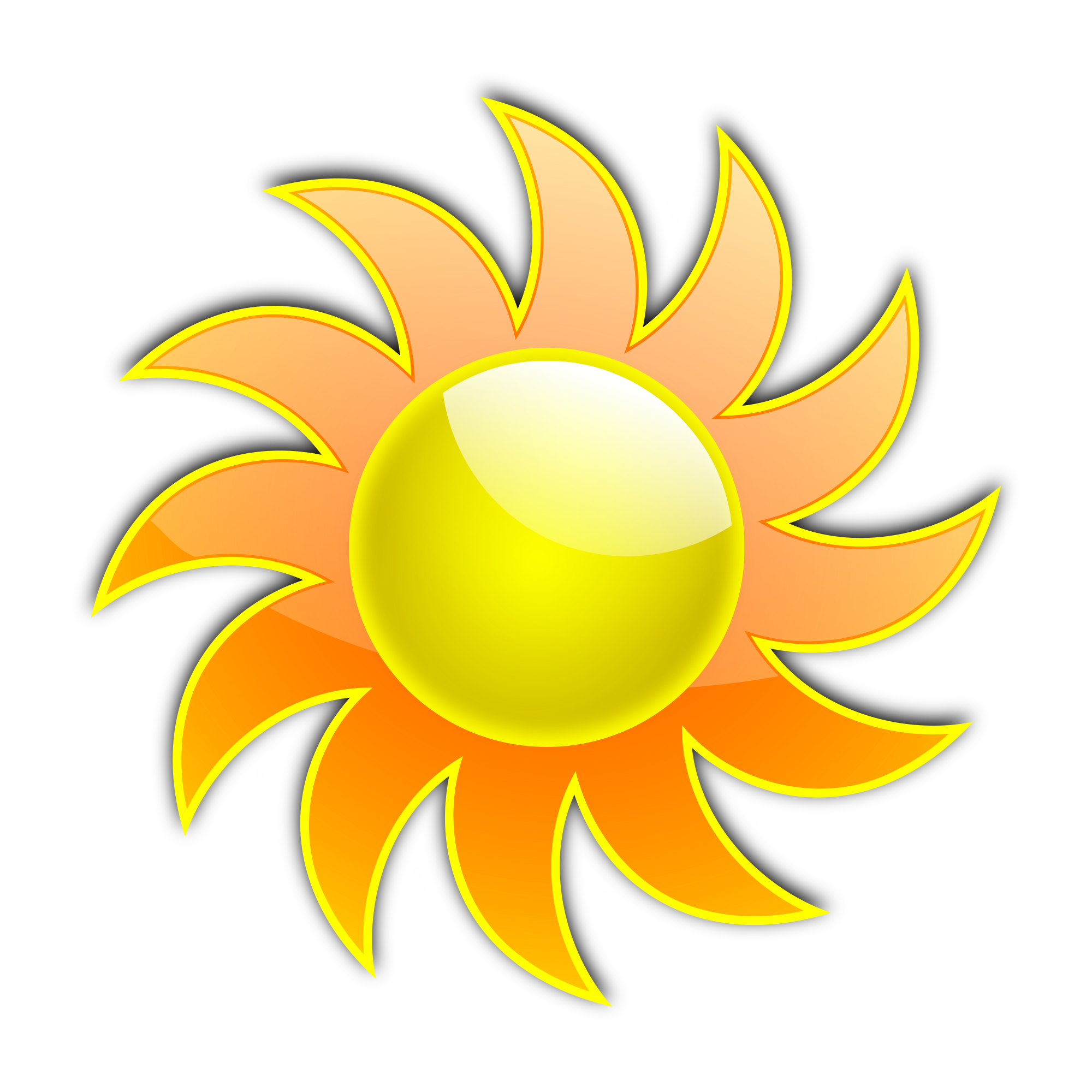 Free sun blazing ray clipart png royalty free stock Clip art sun clipart 2 - Clipartix png royalty free stock