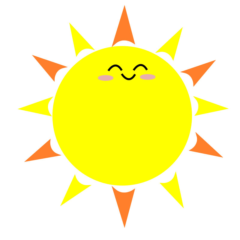 Sun field free clipart clip freeuse Happy Sun Clipart at GetDrawings.com | Free for personal use Happy ... clip freeuse