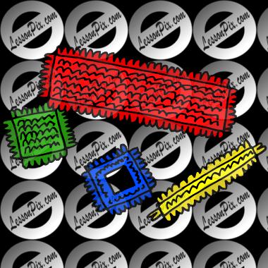Bristle blocks clipart