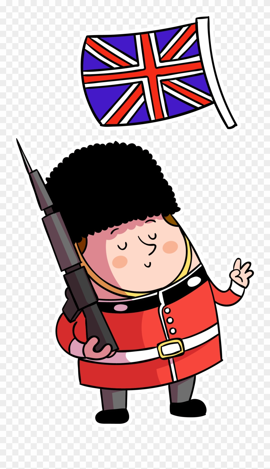 Britigh clipart vector free download Cartoon British Flag - Cartoon Uk Flag Png Clipart (#664847 ... vector free download