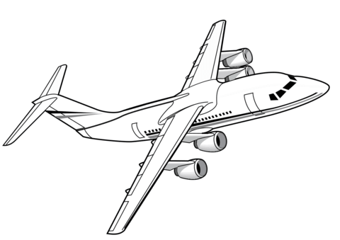 British aerospace clipart image black and white British Aerospace 146 Airliner coloring page | Free Printable ... image black and white
