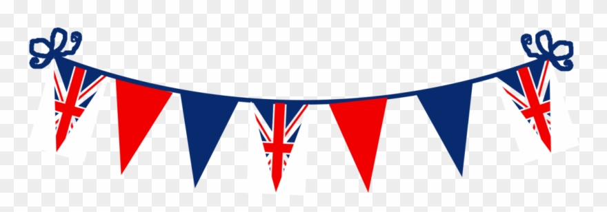 British flag bunting clipart