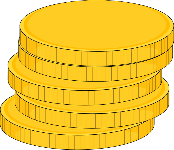 Small stack of money clipart black and white stock Money Stack Of Coins Clip Art at Clker.com - vector clip art online ... black and white stock