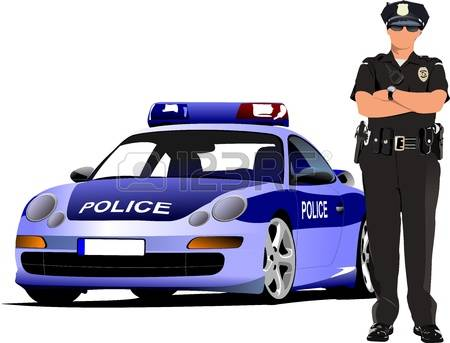 cliparts stock vector. British police car clipart