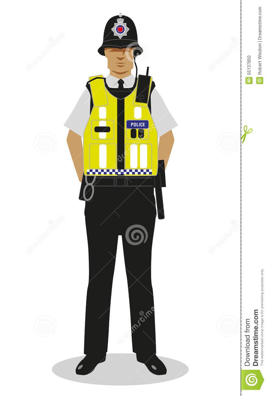 British police clipart picture download UK Policeman - Hi Vis Stock Illustration - Image: 55137850 picture download