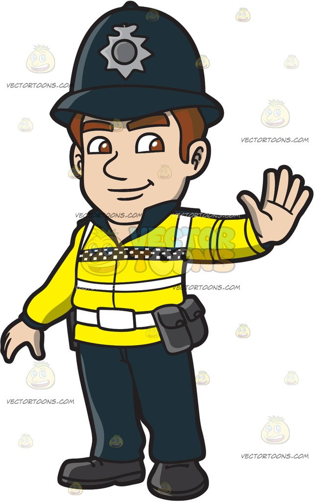 A British Male Traffic Police Cartoon Clipart banner free library