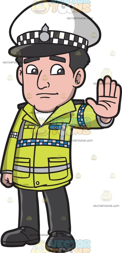 British policeman clipart vector freeuse A British Traffic Police Officer : A man with black hair wearing a ... vector freeuse