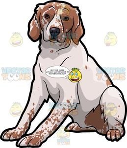 Brittany dog clipart graphic royalty free A Brittany Spaniel Pet Dog graphic royalty free