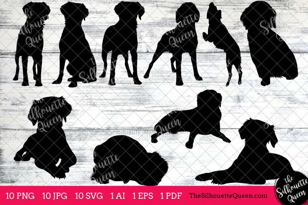 Brittany dog clipart graphic freeuse Brittany Spaniel Dog Silhouettes Clipart Clip Art (AI, EPS, SVGs, JPGs,  PNGs, PDF) , Spaniel Dog Vectors - Commercial and Personal Use graphic freeuse