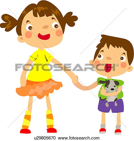 Bro frau clipart image free download The Rush of Family Life - stock illustration clip art. Buy royalty ... image free download