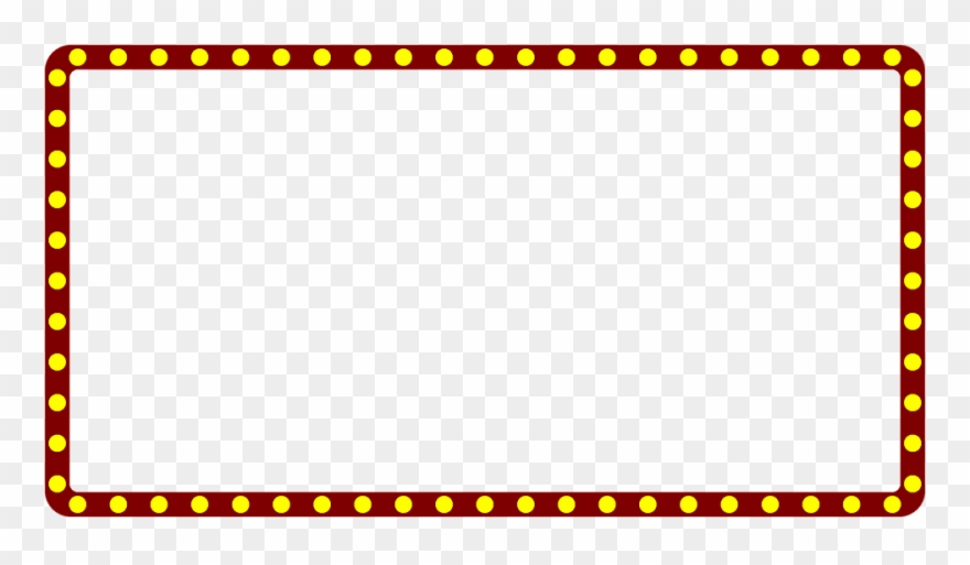 Clipart marquee graphic transparent download Marquee Lights Clipart - Border Broadway Marquee Sign Clipart - Png ... graphic transparent download