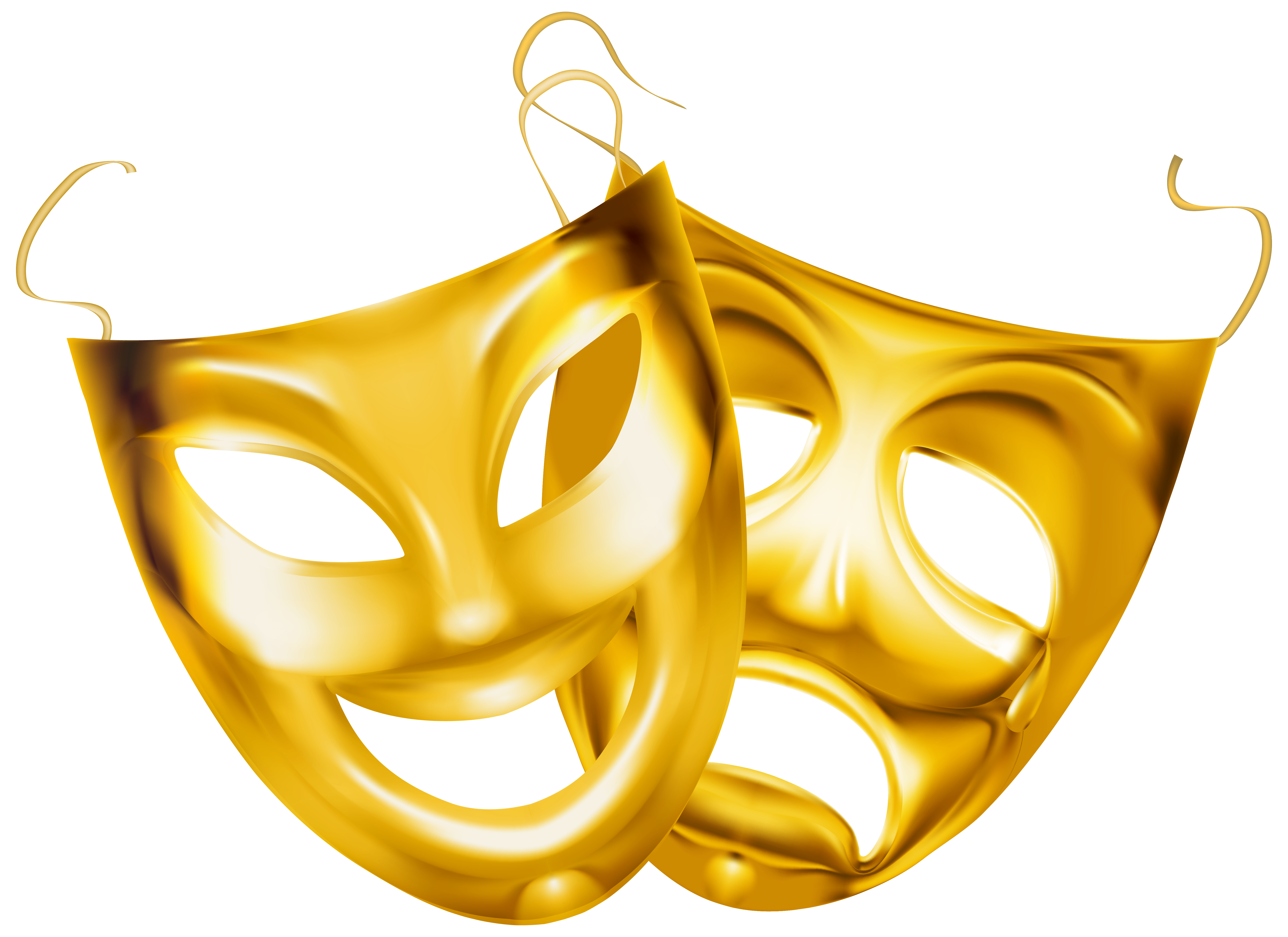 Broadway star clipart vector royalty free Gold Theater Masks PNG Clipart Image | Gallery Yopriceville - High ... vector royalty free