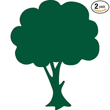 Brocc silhouette clipart picture transparent download Amazon.com: ANGDEST Apple Tree Silhouette (Green) (Set of 2) Premium ... picture transparent download