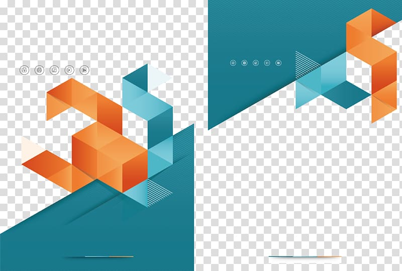 Brochure graphic design background clipart hd black and white library Blue and orange abstract illustration, Brochure Graphic design Flyer ... black and white library